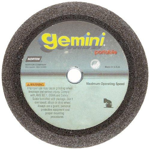 Norton Gemini Portable Snagging Abrasive Wheel, Type 11 Flaring Cup, Aluminum Oxide, 5/8