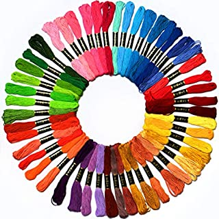 50 Skeins Embroidery Floss Mega Pack embroidery thread Approx 8m per skein Various Colors 100% long stapled Cotton