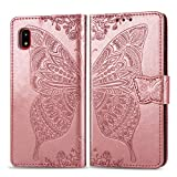 Galaxy A20 ケース 手帳型 Galaxy A20 au SCV46 ケース 財布型 カード収納 かわいい 蝶々 フラ……