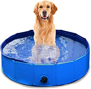 Zone Tech Foldable Pet Bathing Pool - Premium Quality Easy to Store Collapsible Foldable Bath Pool for Kids and Pets