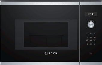 Bosch Serie 6 BEL524MS0 Integrado - Microondas (Integrado, Microondas con grill, 20 L, 800 W, Giratorio, Tocar, Negro, Acero inoxidable)