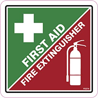 AZ House of Graphics First Aid Fire Extinguisher Stickers - 1 Sticker