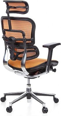 HJH Office AIR-PORT Silla de oficina Naranja y Negro 48.0x59 ...