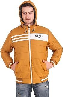 Kiba Retail Men's Winter Warm Lightweight Sports Reversible Jacket with Hood_Mustard