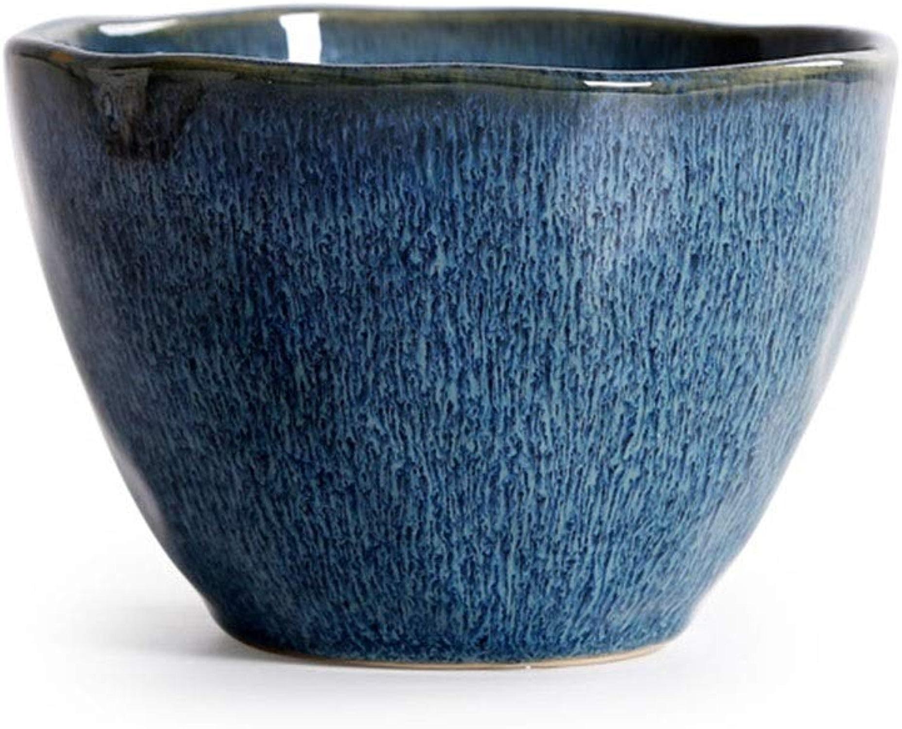 Bol De Fruits - Vaisselle En Céramique Créative - Bol à Salade Européen - Bol à Soupe En Forme De Bol De RaHommes Ménager (Couleur   bleu)