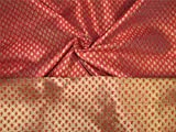Brokat-Stoff, rosa-rot x goldfarben, 142,2 cm, Bro653 [5]