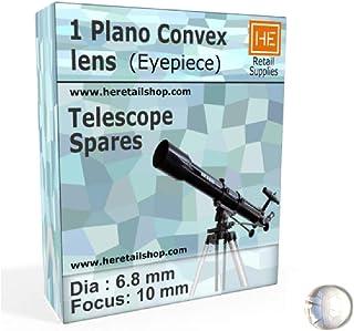 RETAIL SUPPLIES Plano Convex Lens Diameter and Focus 6.8-10 mm, Refracting Telescope Eyepiece