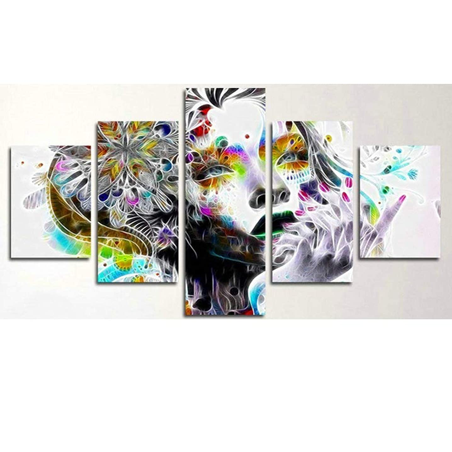 5D Diamond Painting Kits Full Drill Diamond Embroidery,5 Sets of Splicing Paintings (Abstract Dream)