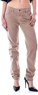 JECKERSON Women's 23PCJDPA16XT00111BEIGE Beige Cotton Jeans