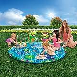 HYQ Baby Pool Pad Spritzen, 3D-Frosch Aufblasbare Sprinkler Pad Außen Sprinkler Spielzeug Für Schwimmbecken Sommergarten Für Kinder/Tierspiele
