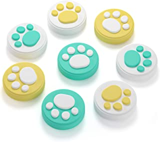 (8Pcs) Thumb Grip Caps for Nintendo Switch & Lite, Hestia Goods Joystick Cap Cute Cat Claw Design,Soft and Comfortable Sil...