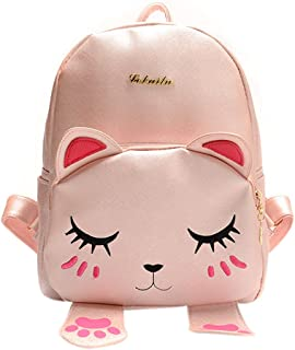 Bags us Girls Cute Cat Backpack PU Leather Shoulder Bag Travel Daypack Schoolbag Satchel