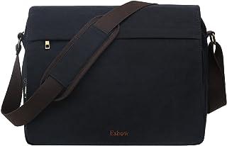 "Eshow Men's Messenger Bag Canvas Crossbody Shoulder Bag Retro Business Bag 13"" -15.6""Laptop"