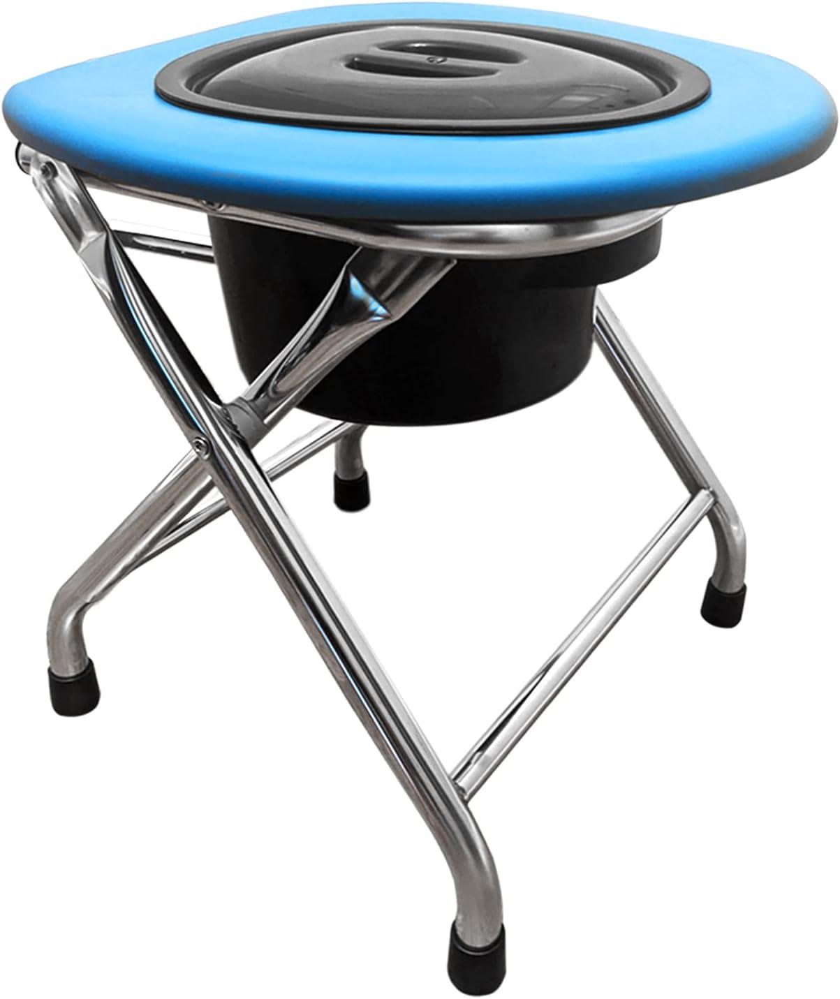 Kunida Designs Portable 送料込 Camping Toilet with Bucket - Chair Foldi 激安格安割引情報満載