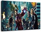 Marvel Helden Format 120x80 cm Bild auf Leinwand, XXL