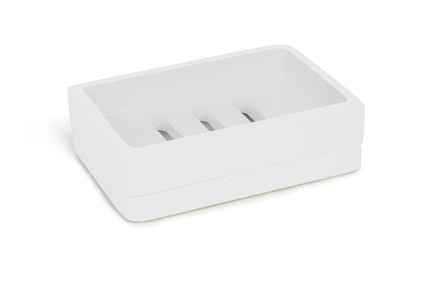 Kassatex Lacca Bath Accessories Soap Dish, White