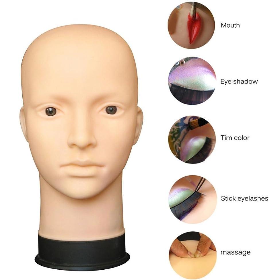 Wig Head, RIUDA Mannequin Flat Head Practice Make Up Massage Training Model Eyelash Extensions