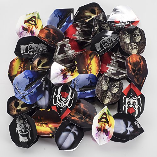 30 x HORROR DART FLIGHTS, MIXED COMPANIES, STANDARD SHAPE, 10 SETS