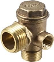 Rückschlagventil Messing Außengewinde Druckluft Wasser 2 x 1//2 oder 2 x 15mm