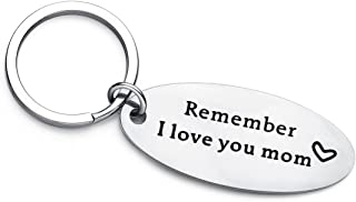 Mother's Day Birthday Keychain- Remember I Love You mom, Best Gift for Mom