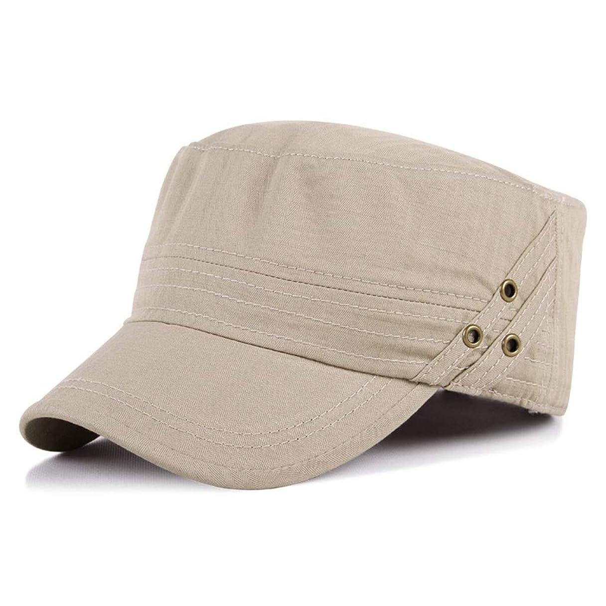 怒りクランシー野生日よけ帽 日曜日の帽子の平らなシルクハットの春および秋の人の夏の屋外の日焼け止めの帽子55-60cm ZHAOSHUNLI (Color : Beige)