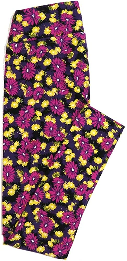 Lularoe One Size OS Floral Buttery Soft Womens Leggings fit Adult Sizes 2-10 OS-4365-BE