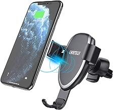 Cargador Inalámbrico Coche Carga Rápida, Qi Cargador Rápido Wireless Car Charger Soporte Móvil,10W para Samsung S10/S10e/S10+/S9/S8/S8+/Note 8,7.5W para iPhone11/XS/XS Max/XR/X/8/8 Plus, 5W QI-enabled