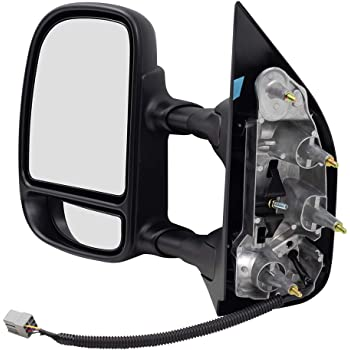 Passengers Power Side View Mirror Double Swing Telescopic Dual Arms Replacement for Ford Van 9C2Z17682CA