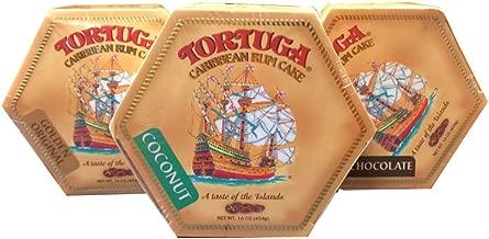 Tortuga Caribbean Rum Cake Assortment - Original, Chocolate & Coconut 16oz Rum Cakes