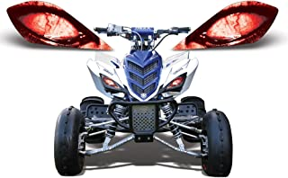AMR Racing ATV Headlight Eye Graphic Decal Cover for Yamaha Raptor 700/250/350 - Corrupt