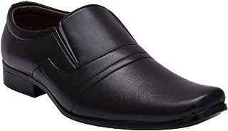Sir Corbett Men's Black Synthetic Slip On Formals Shoes…