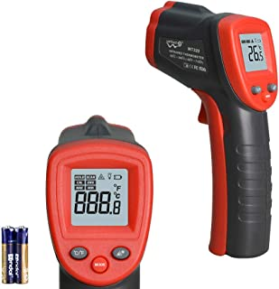 IR Thermometer Infrared Temp Gun -58℉-716℉(-50℃-380℃) with Self Calibration and Max Min Measure (Not for People) Digital I...