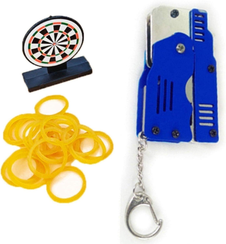 Elementra Gummiband Spielzeug Mini Metall Klapp Gummi Gummi Launcher Spielzeug Mit Schl/üsselbund F/ür Spiel Outdoor-Aktivit/äten