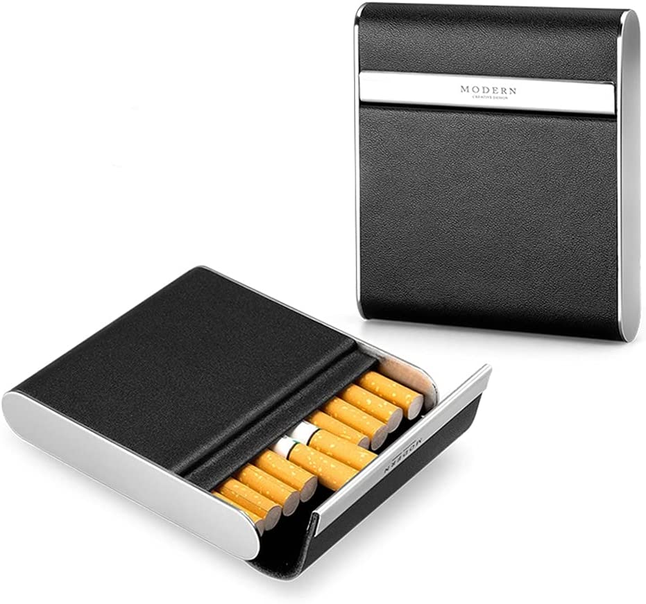 Houston Mall ZQZDQ Magnetic Switch 5 ☆ very popular Clamshell Cowhide Steel Side Stainless Cig