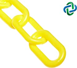 Mr. Chain Plastic Barrier Chain, Yellow, 2-Inch Link Diameter, 100-Foot Length (50002-100)