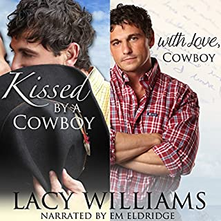 Kissed by a Cowboy / With Love, Cowboy audiobook cover art