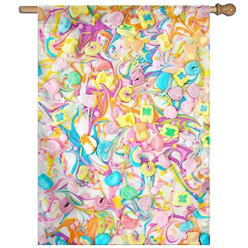 KDU Mode Seizoensgebonden Tuinvlag, Lucky Charms Chocolade Vlag Banner, Aantrekkelijke Outdoor Tuin Vlaggen Voor Familie Vakantie Decor,68.6x94cm
