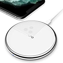 Vebach Dubhe1 Wireless Charger, Qi Certified Fast Wireless Charging Pad Compatible with iPhone 11/11 Pro/11 Pro Max/XS/XS Max/XR, 7.5W for iPhone X/8Plus, 10W for Samsung Galaxy S10/S10 Plus/S10E