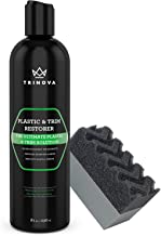TriNova Plastic & Trim Restorer - Shines & Darkens Worn Out Plastic, Vinyl & Rubber Surfaces - Protects Cars & Motorcycles from Rain, Salt & Dirt - Prevent Fading - 8 OZ