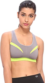 VIXENWRAP Women's Stretchable and Flexible High Coverage Active-wear Candy Racer-Back Sports Bras for Yoga, Athletic, Work...