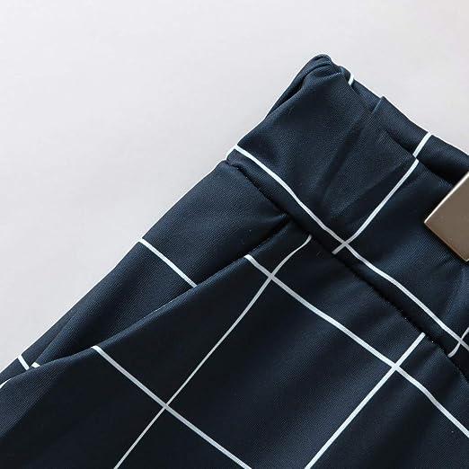 KIMODO Moda Hombre Casual A Cuadros Imprimir Cordón Elástico Cintura Pantalones Largos Pantalones Mediano Grosor Deportes de Calle y Estilo Casual ...