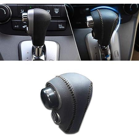 Non-slip Black Genuine Leather Gear Shift Knob Cover For Honda CRV ...
