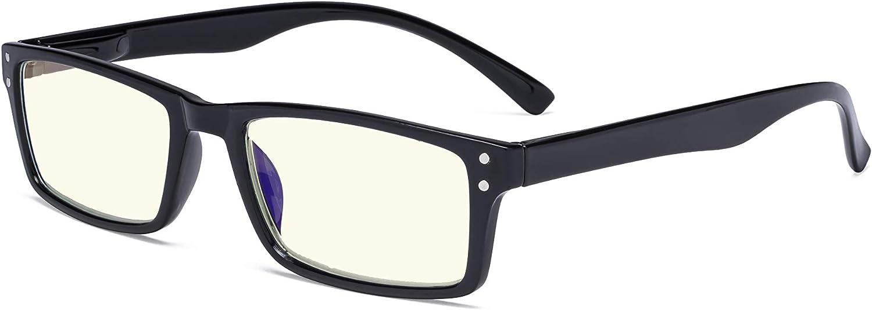 Eyekepper Blue Light Filter Glasses Blocking Digital Glare Readers for Women Men Reading Computer Screen - Black
