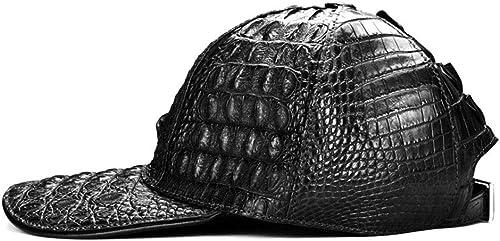 vendiendo bien en todo el mundo HENLOOO Gorra de béisbol de Cuero, Sombrero de de de cocodrilo, Moda cúpula Unisex al Aire Libre Gorra, Sombrero,negro  100% a estrenar con calidad original.