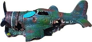 plane wreck fish tank ornament