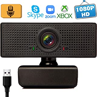 Webcam with Microphone Webcams 1080p for Gaming conferencing Meeting Laptop Desktop Zoom, USB Computer Camera for Mac pc Free-Driver piug and Play