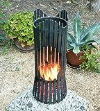 DanDiBo Feuersäule Albero Feuerkorb 80002 Feuerschale 60 cm Metall Feuerstelle Säule