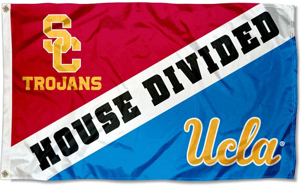 College Flags Colorado Springs Mall Banners Co. Bruins Flag vs Divided Fort Worth Mall House Trojans