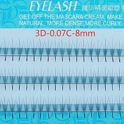 Woman C Curls 100% Handmade Instantly Tripling The Volume 0.07 Thickness False Eyelashes Eye Lash Extension Premade Russian Volume Fan(3D-0.07C-8mm)