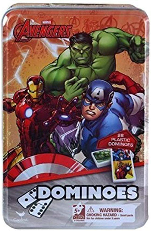 Cardinal Marvel Avengers Dominoes in Tin Box